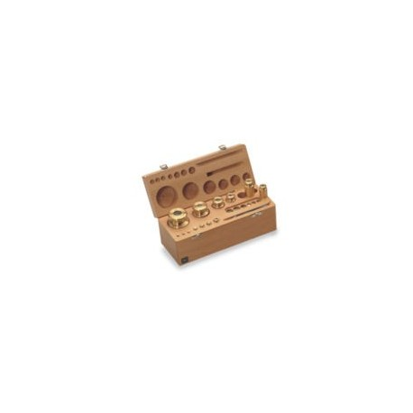 Set greutati etalon,alama, in cutie de lemn clasa M1