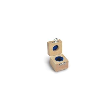 Cutie de lemn captusit pt o singura greutate etalon