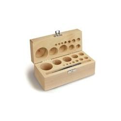 Cutie din lemn  pentru set greutati etalon