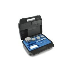 Set greutati etalon compacte,inox lustruit in cutie de plastic clasa F1 (321)