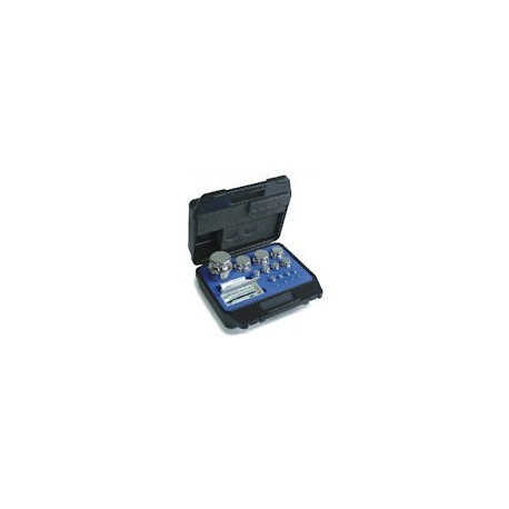 Set greutati etalon  , alama , nichelat, in cutie de plastic , clasa F1 (322)
