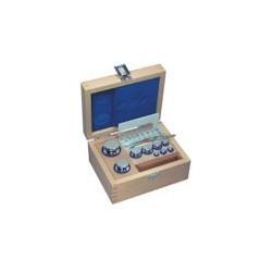 Set greutati etalon,alama, nichelat  in cutie de lemn clasa F1 (323/324)